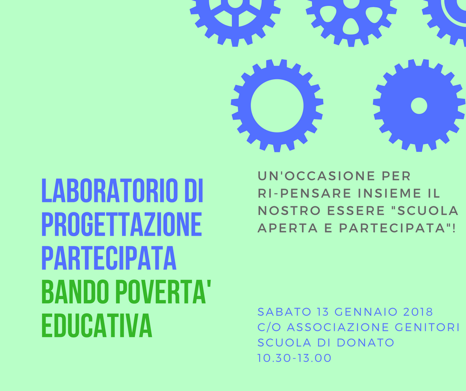 Laboratorio di Progettazione partecipata Bando povertà educativa 5-14 anni – sabato 13 gennaio 2018