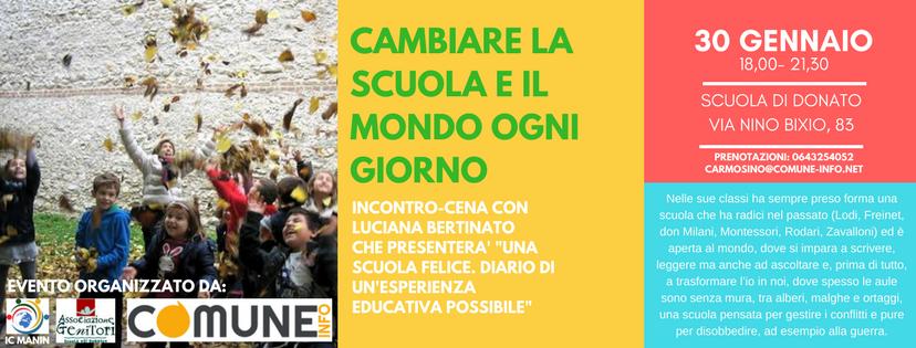 Cambiare la scuola e il mondo ogni giorno – Incontro-cena con Luciana Bertinato – 30 gennaio