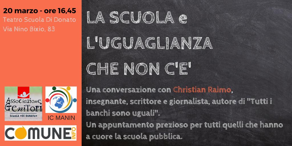 Incontro con Christian Raimo – 20 marzo