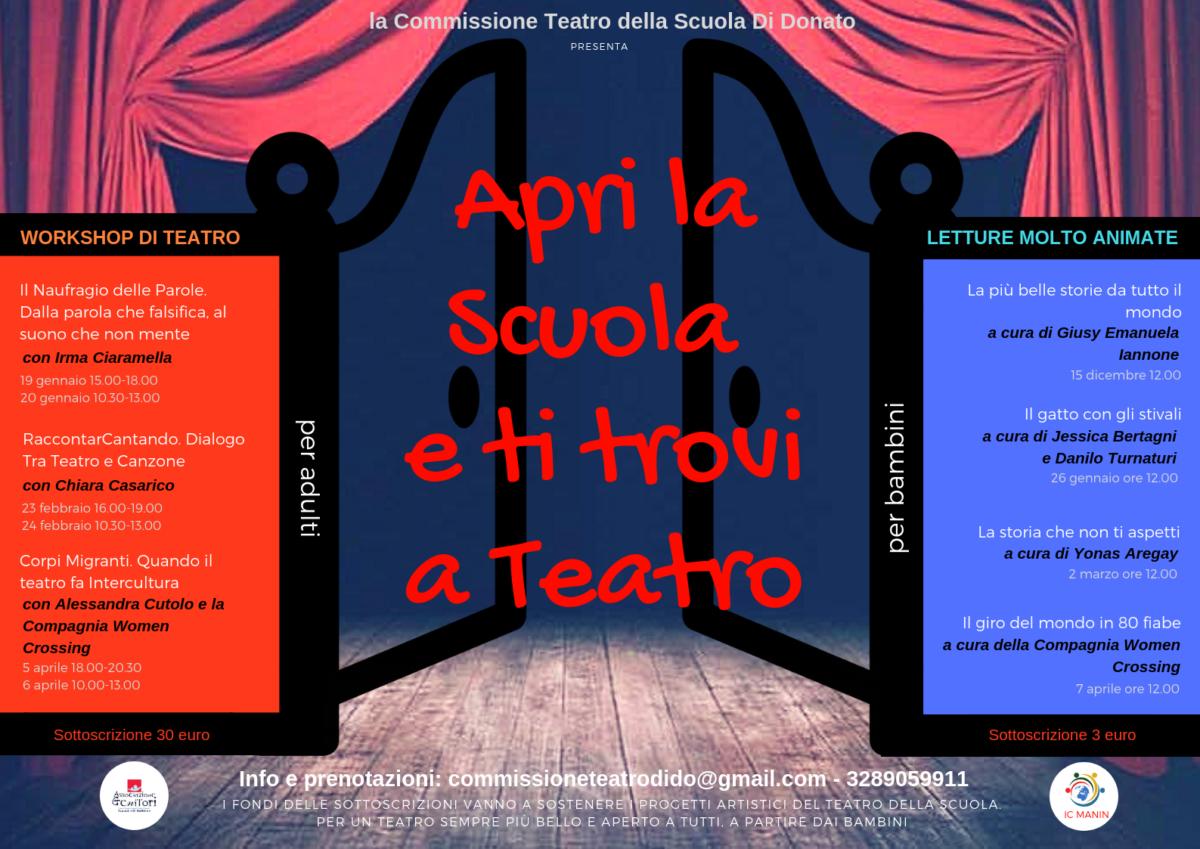 🎭 Apri la Scuola e ti trovi a Teatro 🎭