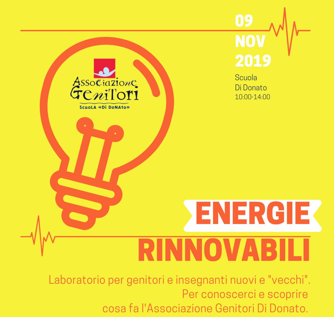 "💥💥💥 AG: ""ENERGIE RINNOVABILI"" – sabato 9 novembre, ore 10-14"