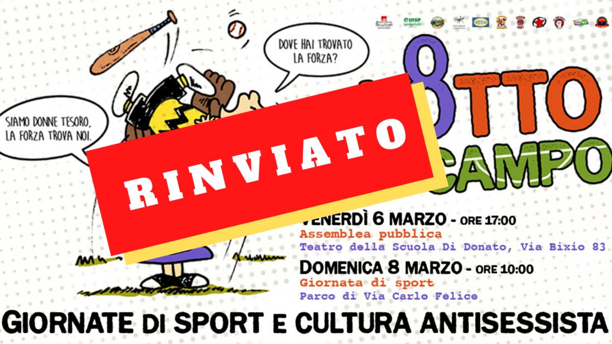 L8️⃣TTO IN CAMPO – 6 e 8 marzo – Giornate di sport e cultura antisessista