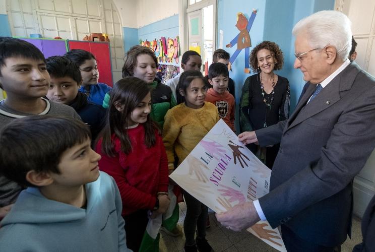 Il Presidente Mattarella in visita a sorpresa alla Di Donato
