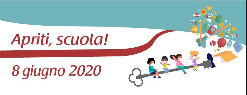 #APRITI, SCUOLA! – Coordinamento Associazioni e Comitati Genitori romani per la riapertura della Scuola – Programma eventi 8 giugno